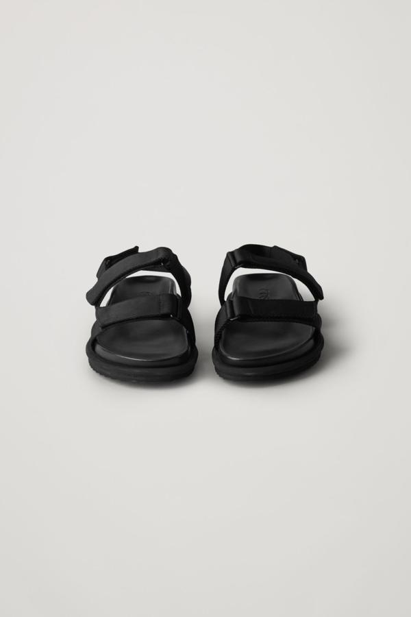 Cos Webbing Strap Sandals In Black