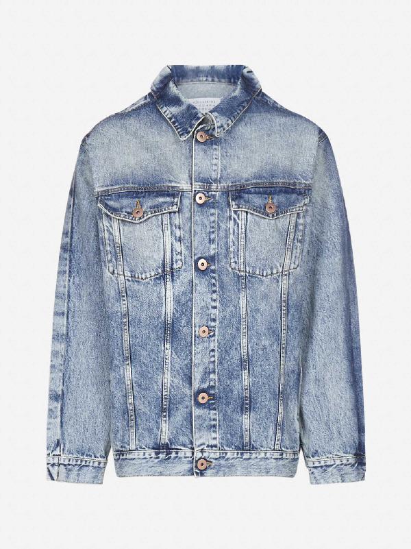 Maison Margiela Over Denim Jacket Jacket In Blue