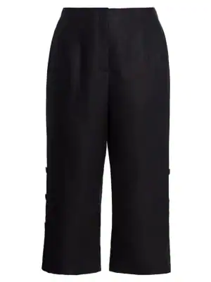 Lafayette 148 Women's Downing Side Button Pants In Black