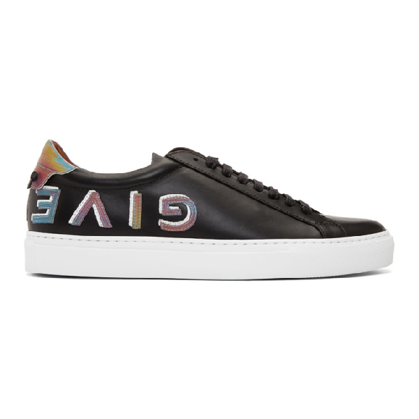 Givenchy Men's Shoes Leather Trainers Sneakers Urban Street In 001 Black