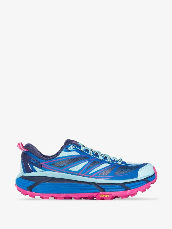 Hoka One One Blue And Pink Mafate Speed 2 Sneakers