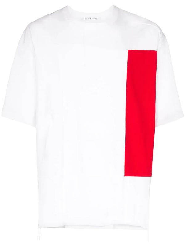 Children Of The Discordance X Semble Colour Block Cotton T-shirt In White