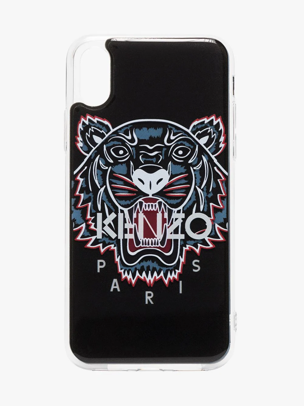 Kenzo Tiger Logo Print Iphone X/xs Case In Black