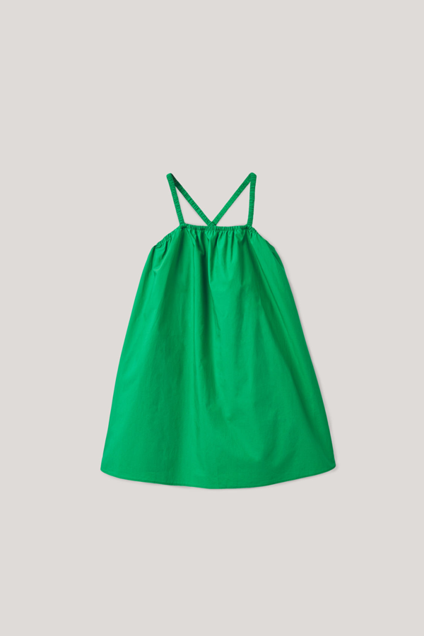 Cos Kids' Sleeveless Cotton Dress In Green