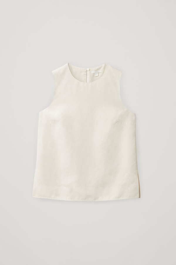 Cos Linen-mix Vest Top In Beige
