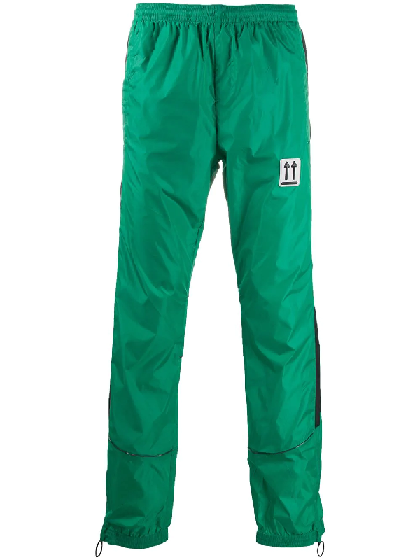 Off-white River Trail Pants In Green Polyamide