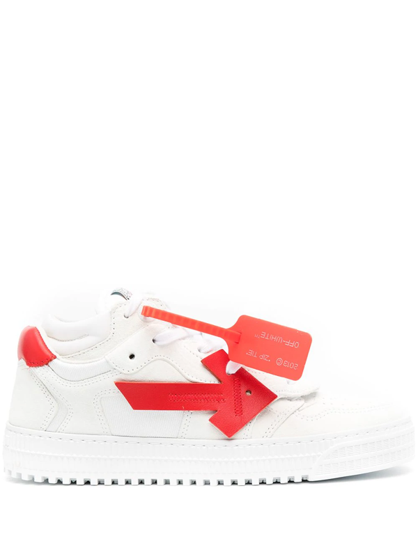 Off-white Arrow Low-top Leather Sneakers In White