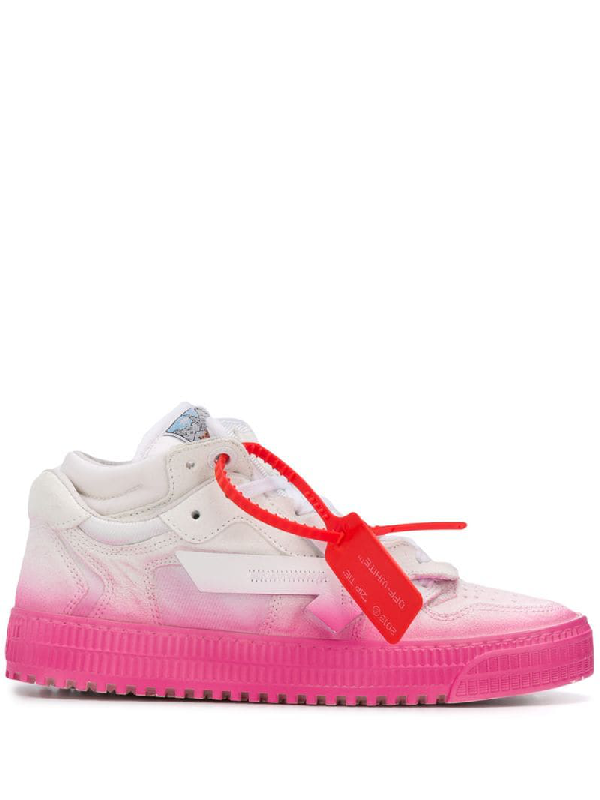 Off-white Low 3.0 Sneakers In DegradÉ Fuchsia In White