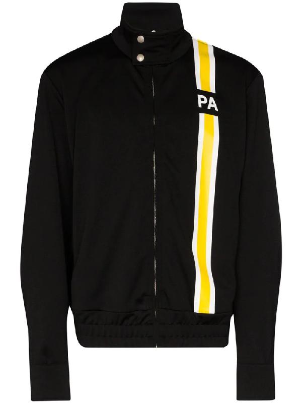Palm Angels Monogram Track Sweatshirt Pmbd027s20384031 In Black ,yellow