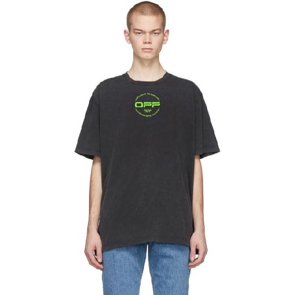 Off-white T-shirt Con Stampa E Logo In Cotone In Multicolor