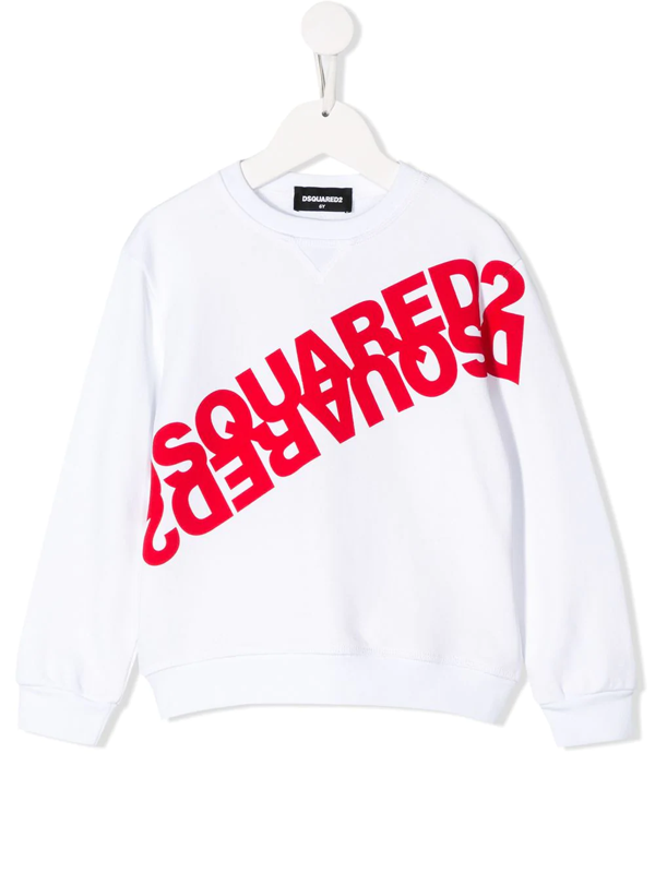 Dsquared2 Kids' Crew Neck Sweatshirt With White Writing