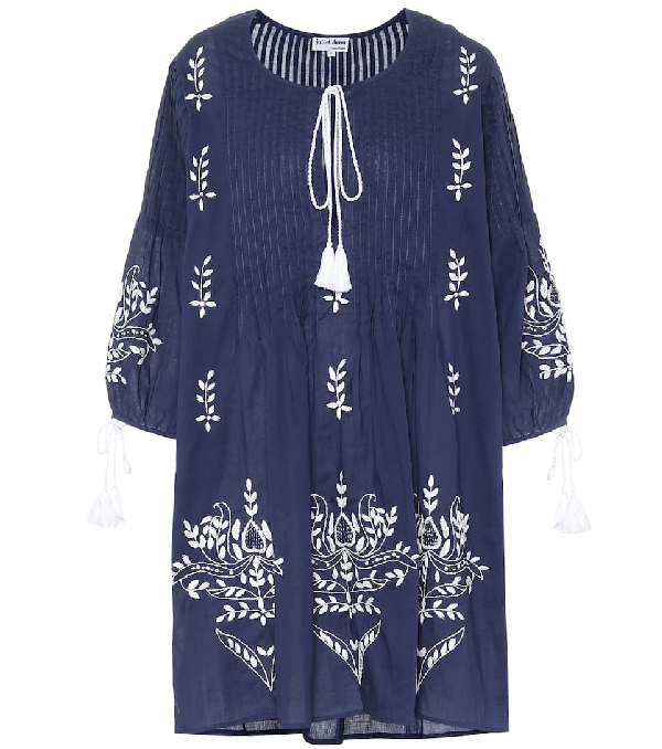 Juliet Dunn Exclusive To Mytheresa - Printed Cotton Dress In Blue