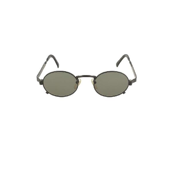 Jean Paul Gaultier Men's Black Metal Sunglasses
