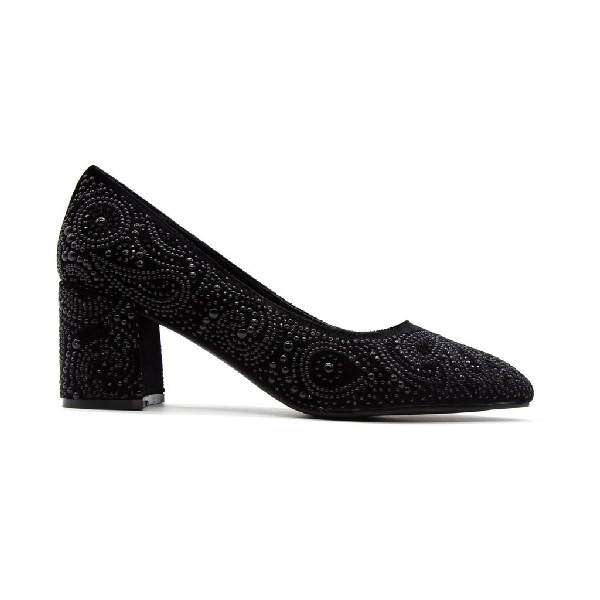 Alma En Pena Women's Black Leather Pumps