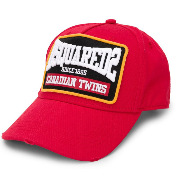 Dsquared2 Canadian Twins Logo Cap Red Colour: Red