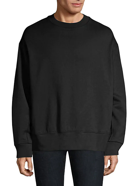 Y-3 Signature Graphic Oversized Sweatshirt In Black