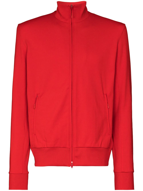 Y-3 Logo-detail Track Jacket In Red