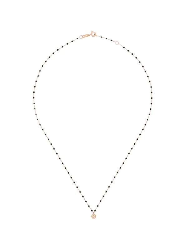 Gigi Clozeau 18k Rose Gold 42 Cm Beaded Diamond Necklace