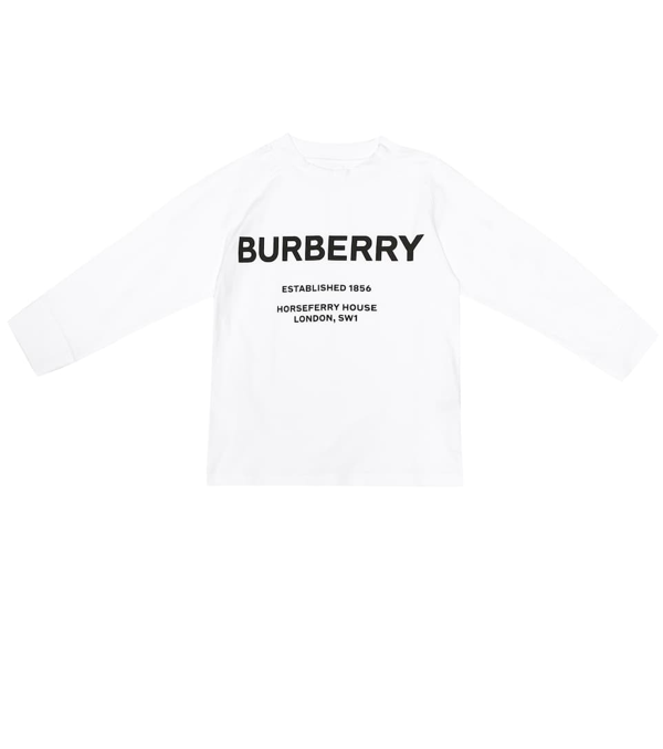 Burberry Kids' Printed Cotton Sweater In White