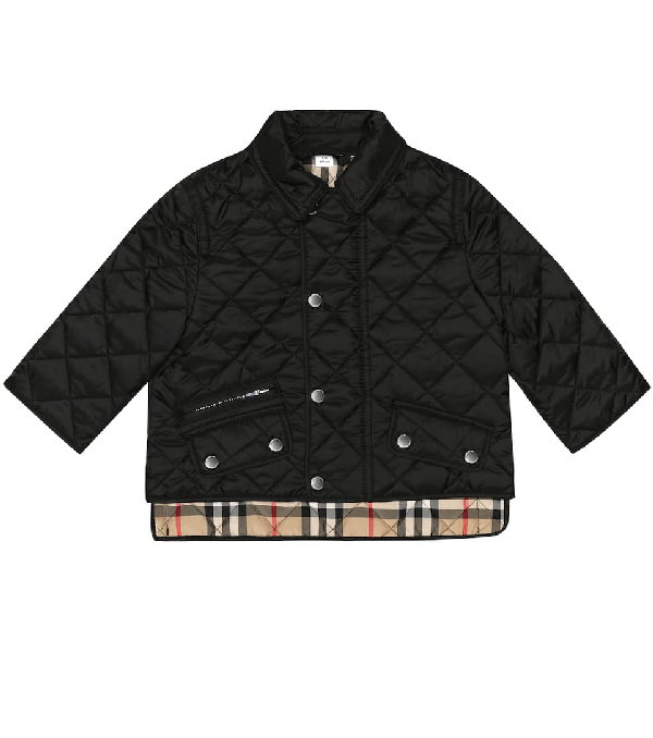 Burberry Baby Quilted Jacket In Black