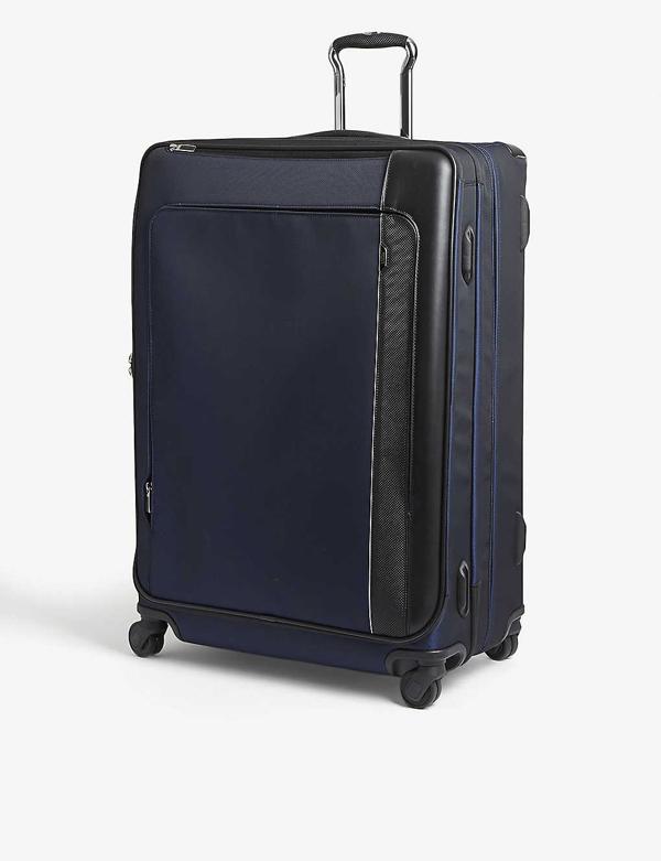 Tumi Arrivé Continental Dual Access Four-wheel Suitcase 56cm In Navy