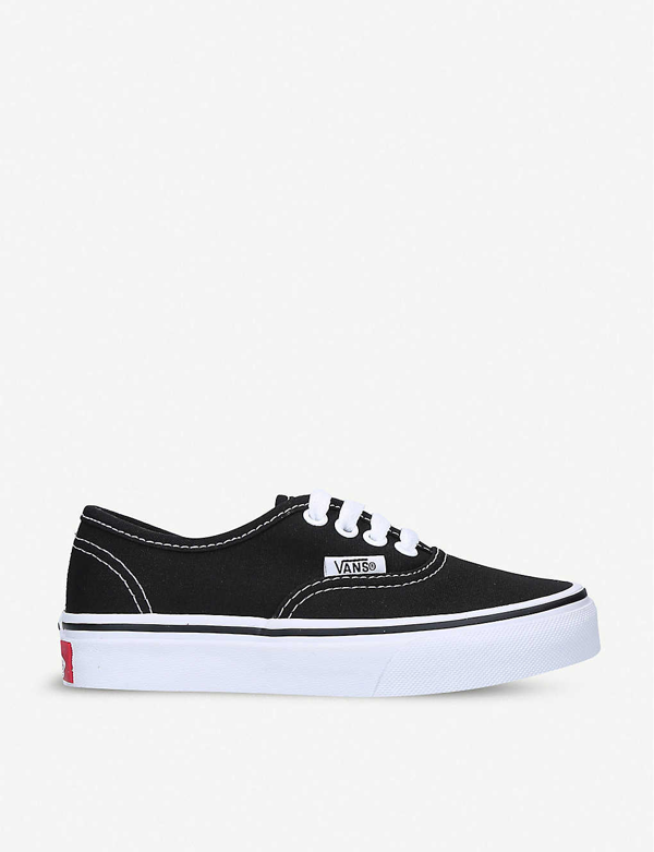 Vans Kids' Authentic Cotton-canvas Skate Trainers 5-8 Years In Blk/white