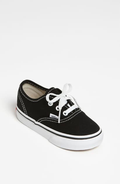 Vans Kids' Authentic Cotton-canvas Skate Trainers 5-8 Years In Black/ True White