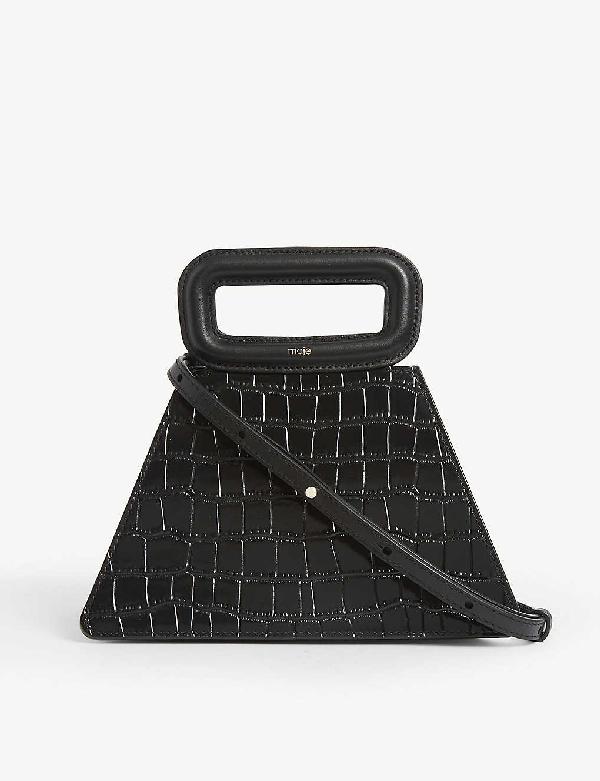 Maje Croc-embossed Tote Bag