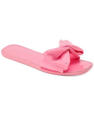Kate Spade Bikini Bow Flat Neoprene Sandals In Pink
