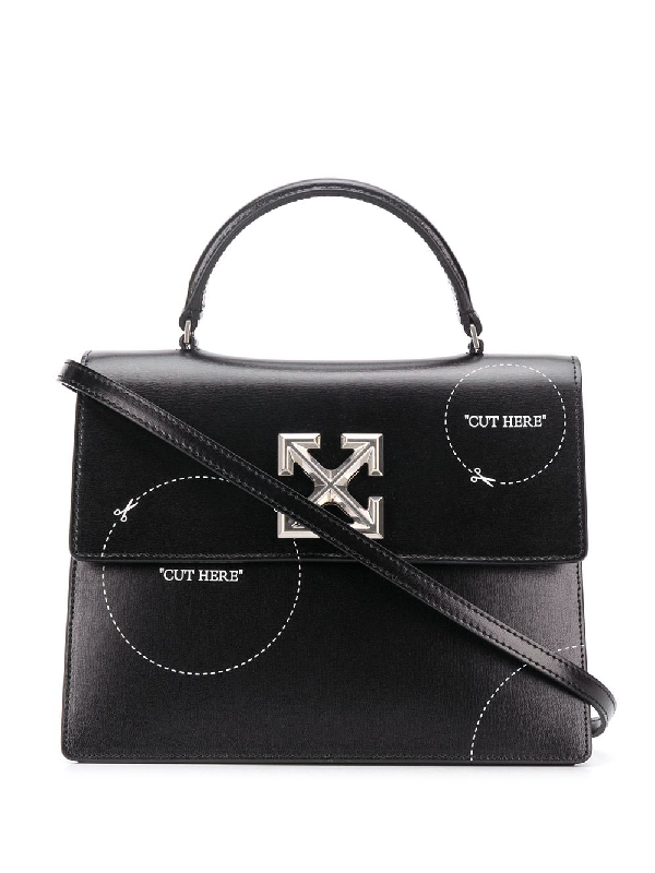 Off-white Black Cut-here Jitney 2.8 Handbag