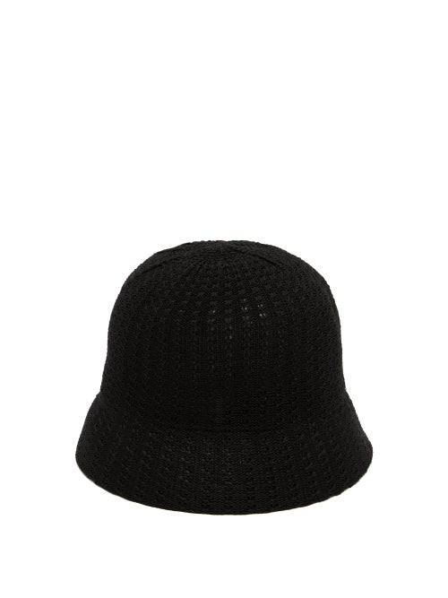 Reinhard Plank Hats Mucin Termo Knitted-cotton Bucket Hat In Black