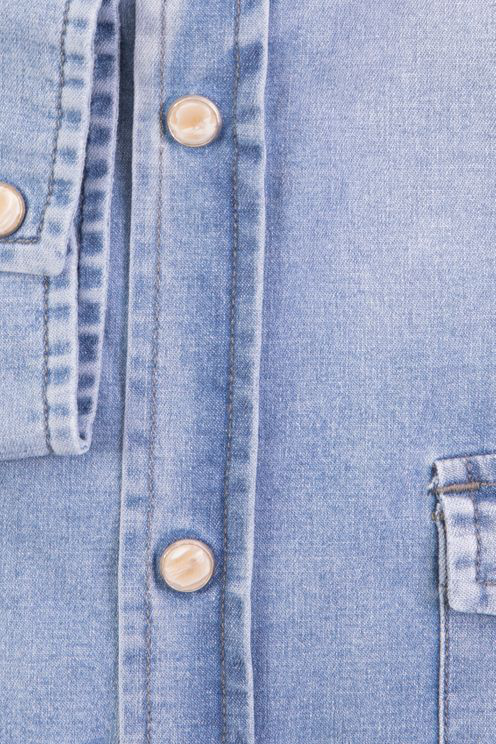 Roy Rogers Roy Roger's Shirt Dudley Ss Denim In Blue
