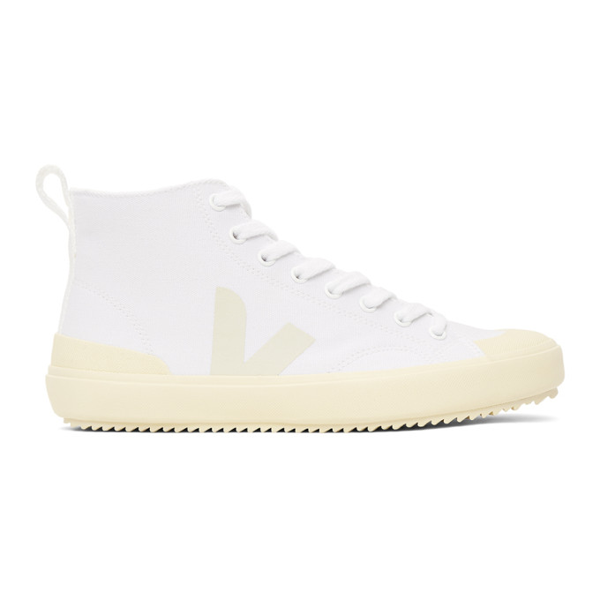 Veja Nova High Top Canvas Trainer - White, Butter Sole In White Butter