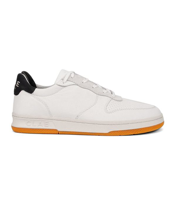 Clae Malone Milled Leather Sneaker White