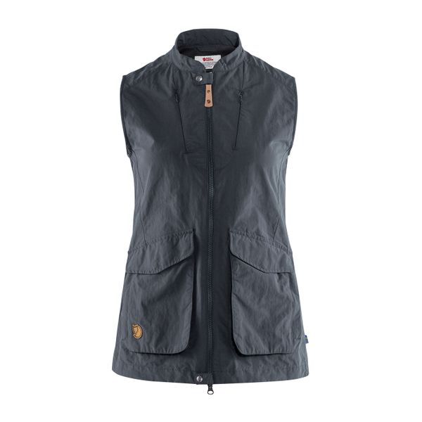 Fjall Raven Fjallraven Womens Travellers Mt Vest Dark Navy In Blue