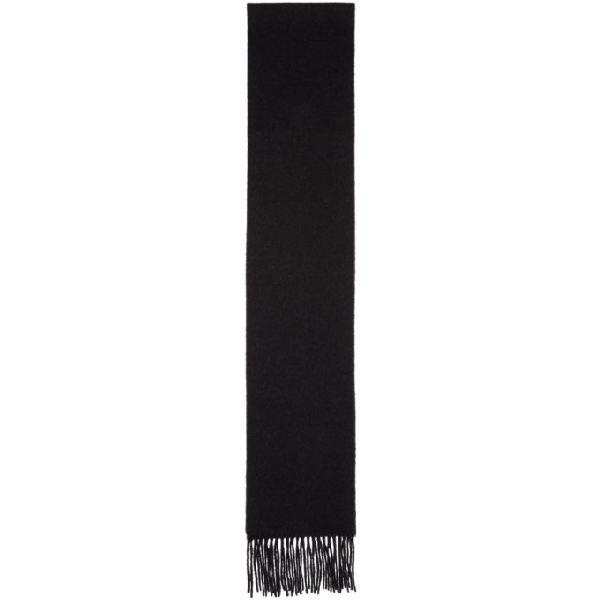 Acne Studios Cashmere Canada Fringed Scarf In Black