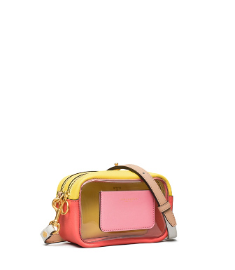 Tory Burch Perry Clear Mini Bag In Pink City/clear