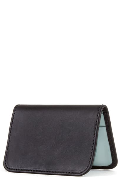 Clare V Bifold Leather Card Case In Black