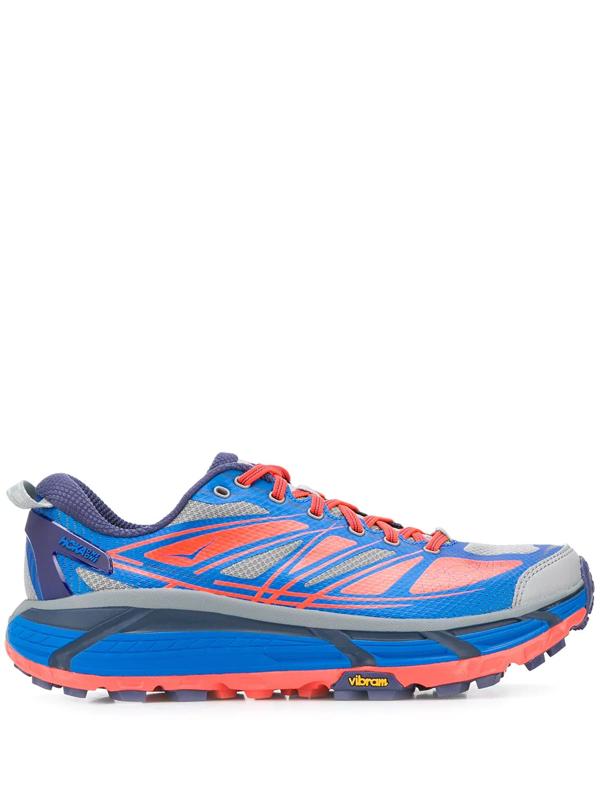 Hoka One One Blue And Orange Mafate Speed 2 Sneakers