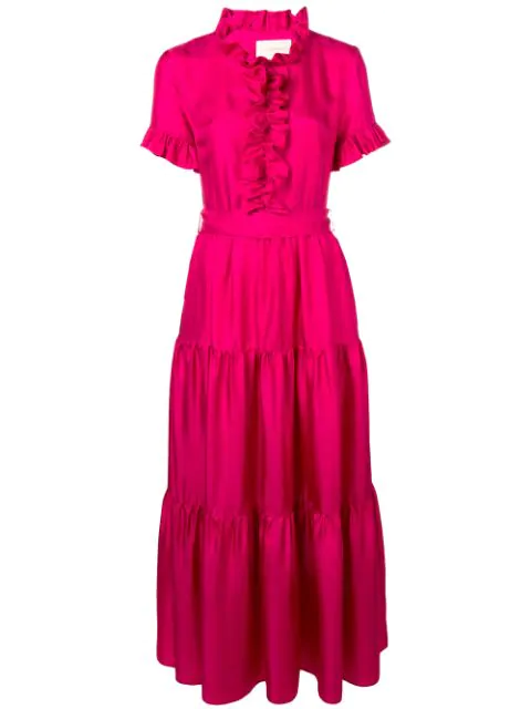 La Doublej Long And Sassy Dress In Pink