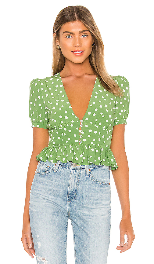 Privacy Please Jessa Top In Sage & Ivory