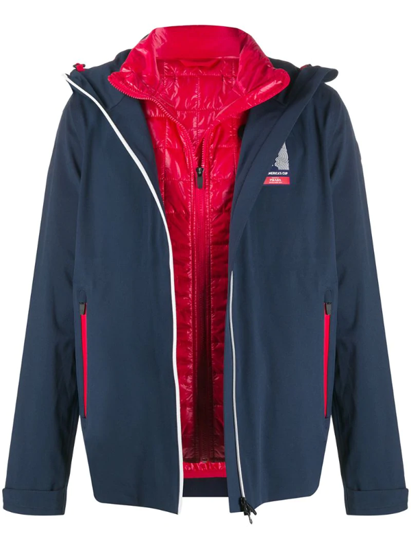 Prada X 36th America's Cup Presented By  Hooded Jacket In Blue