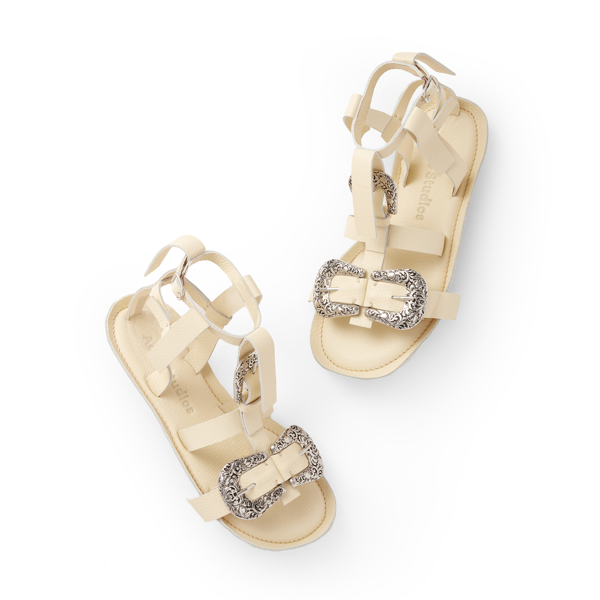 Acne Studios Bab Sandals In Ivory White