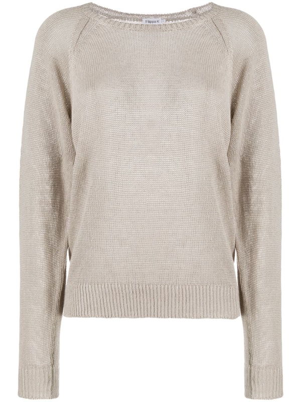 Filippa K Natalie Long-sleeve Jumper In Neutrals