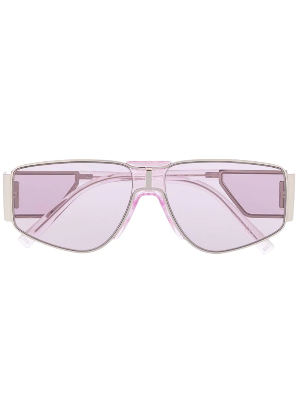Givenchy Side-shield Geometric Sunglasses In Purple