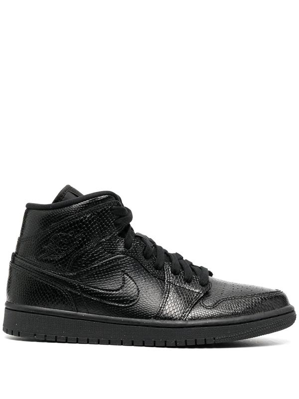 Jordan Air  1 Mid Women's Shoe In Black