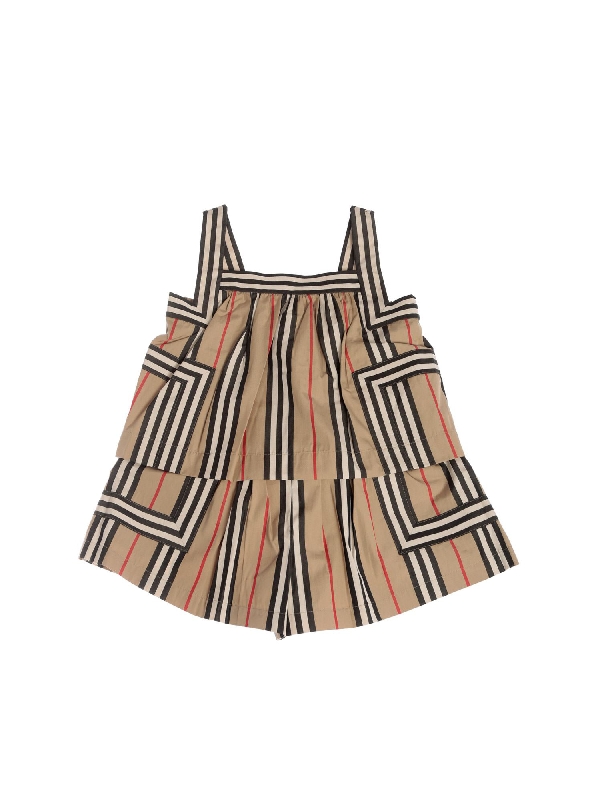 Burberry Kids' Florance Overalls In Archive Beige