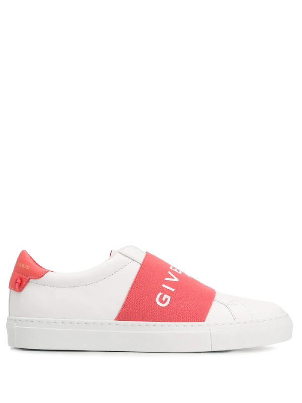 Givenchy Urban Street Leather And Logo Band Sneakers In White