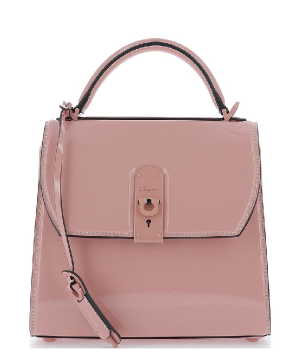 Salvatore Ferragamo Boxyz Shoulder Bag In Pink