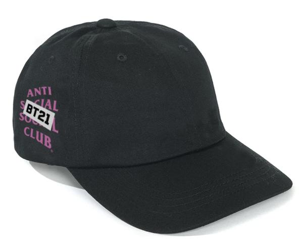 Pre-owned Anti Social Social Club  X Bt21 Snapped Cap (fw19) Black